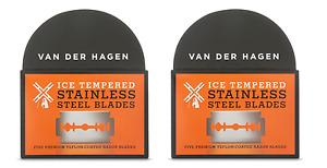 Van Der Hagen Stainless Steel Double Edge Razor Blades, 10 Blades NEW