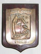 06F10 ANCIENNE TAPE DE BOUCHE BRONZE GOELETTES BELLE POULE ETOILE MARINE ECOLE