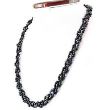 Office Wear 213.00 Cts Natural Blue Tanzanite Round Shape Genuine Beads Necklace