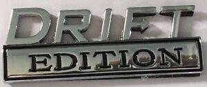 DRIFT EDITION CAR FENDER / BOOT- BADGE Chrome Metal Emblem           G010103