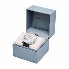 Skagen Connected SKT1101 Hagen White Dial Leather Strap Men's Hybrid Smart Watch