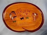 Pennsbury Pottery Pretzel Serving Bowl Sweet Adeline Barbershop Quartet (O2)