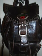 THE ORIGINAL ROOTS BANFF INDESTRUCTIBLE ALL LEATHER SCHOOL.GIRL MINI BACKPACK +1
