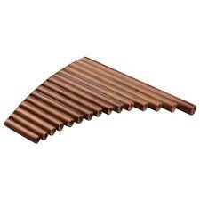 Muslady 15 Pipe Pan Flute G Key Pan Pipes Natural Bamboo Panpipes Chinese E5Q5