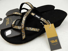 72ef6103956f24 Teva Mush Mandalyn Wedge Ola 2 Agave Black Metallic Womens Wedges Size 9m