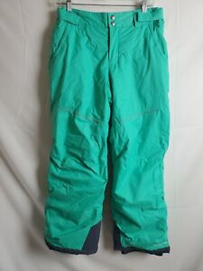 Columbia Girls Youth Crushed Out II Ski Pants Size XL 18/20 Teal Green Insulated