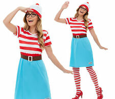 Ladies Wenda Costume Adult Licensed Where's Wally Fancy Dress Book Day UK 4-18