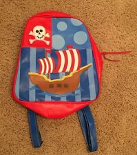 EUC Stephen Joseph Kids Pirate Themed Backpack ~ Adorable & Super Clean!!!