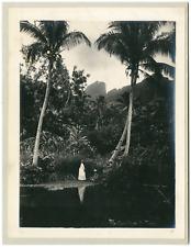 Gauthier Tahiti, Papeete Vintage  print, Tirage argentique  17x22  1890