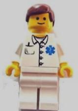 figures city town doctor nurse rescue medical EMT 9 Lego Hospital Minifigs Lot