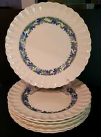 Spode VALENCIA-BLUE/GREEN Set Of 7 Dinner Plates EXCELLENT