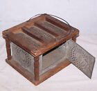 Tin   Wood Antique Foot Warmer