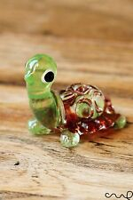 NEW Small Handmade Little Glass Turtle Tortoise Gloss Garden Decor Ornament Cute
