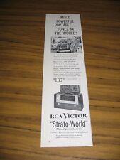 1954 Print Ad RCA Victor Strato-World 7 Band Portable Radios Short Wave