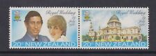 1981 Royal Wedding Charles & Diana MNH Stamp Set New Zealand SG 1247-1248