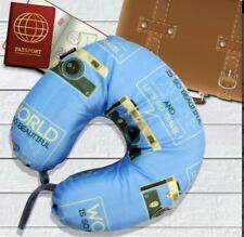 Celebrity Memory Foam Travel Neck Pillow U Shaped Cushion Camera Design