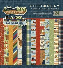 "PHOTOPLAY ""CAMPFIRE & LAKESIDE"" 6X6 PAPER PAD NATURE CAMPING SCRAPJACK'S PLACE"