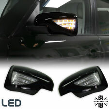 NEW black mirror cover+LED indicator+ welcome light for Range Rover L322 upgrade