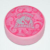 SAN ANTONIO RAMPAGE Team Logo PINK COLORED AHL SOUVENIR HOCKEY PUCK 2-Sided Rare