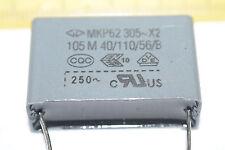 FARATRONIC C42Q2105MB0C000 2-Pin MKP62 305~X2 105M 40/110/56/B Capacitor Qty-10