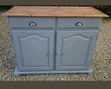 Hand Painted Solid Pine Sideboard In Colour Of Manor House Gray Farrow And Ball