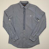 BEN SHERMAN Size M Long Sleeve Shirt Button Up Blue White Striped Men's - SC26