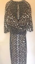 Body Frock African-style, brown/black/white wrap-style dress, 14, New with tags