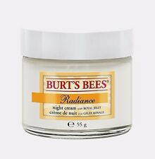 BURT'S BEES - Radiance Night Cream - With ROYAL JELLY 99% NATURAL - 2 Oz / 55 g