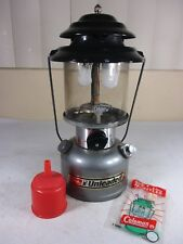 Vintage 1990 Coleman Model 285-700-2 Double Mantle Unleaded Gas Lantern & Funnel