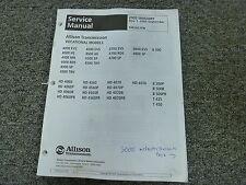 Allison Transmission T450 T425 HD4076 HD4060 4000SP Shop Service Repair Manual