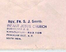 Cm51 1986 India Cover Missionary Air Mail Miva