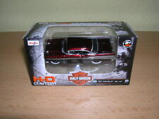Maisto Harley-Davidson CUSTOMS 1957 Chevrolet Bel Air weinrotmetallic, 1:64