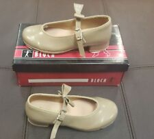 Bloch S0352G Tan Tap Shoes Buckle Mary Jane Child 9.5M
