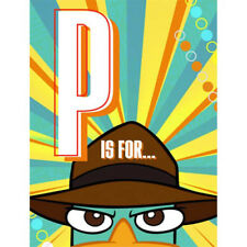 PHINEAS and FERB Agent P INVITATIONS (8) ~ Birthday Party Supplies Stationery