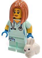 NEW LEGO MINIFIGURES SERIES 17 71018 - Veterinarian Vet Rabbit Bunny