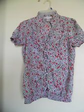 Charlotte Russe Gypsy Bohemian Boho Peasant top blouse Multi  floral Large
