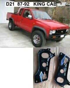 FITS NISSAN D21 KC P/U UTE 4WD MODEL 1987 92 FRONT BUMPER BRACKET STAY PAIR R L
