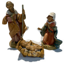 The Fontanini Heirloom Nativity By Roman The Holy Family 3 Piece Set 5 Inches