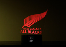 New Zealand All Blacks Maori 2017 Champion Rugby Jersey 3D night lamp GIFT kids