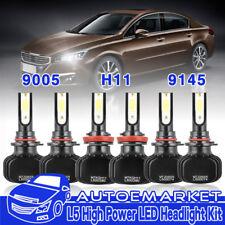 H11 9005 9145 LED Headlight+Fog Bulb for Dodge Ram 1500 2500 3500 2009-2018
