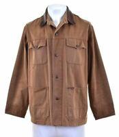 MARLBORO CLASSICS Mens Utility Jacket Size 38 Medium Brown Cotton DB14
