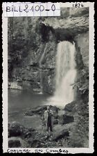cascade des Combes ( Jura)  . photo ancienne . 1948