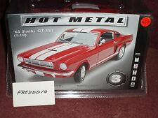 TESTORS/LINCOLN MINT 1965 FORD MUSTANG SHELBY GT350 MODEL KIT RED/WHITE 1/18