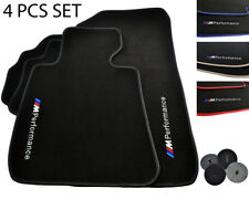Floor Mats For BMW With M Performance Color Rounds LHD Vehicle Models 1990-2018
