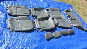 04-07 Saab 9-3 OEM Grey Convertible Front & Back 10 pieces Leather Seat Covers