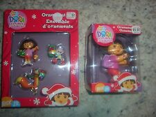 Nick Jr. Dora the Explorer Christmas tree ornaments Boots Swiper Backpack NIP