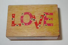 Love Daisies Rubber Stamp Daisy Flowers Wood Mounted