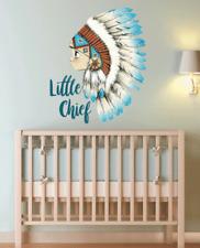 Boys Removable Little Chief Boho Bohemian Wall Sticker Water Colour Nursery Deco