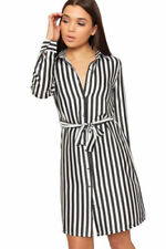 Stripes Shirt Dresses for Women with Buttons