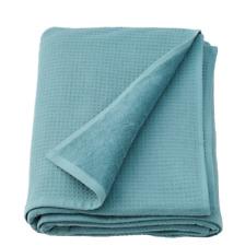 SALVIKEN Bath sheet, blue 39x59